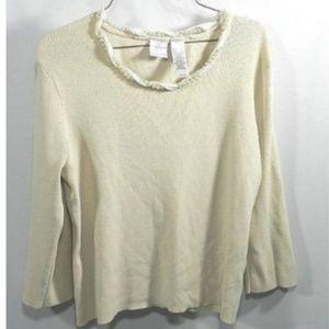 Emma James 3/4 sleeve Womens beige shirt